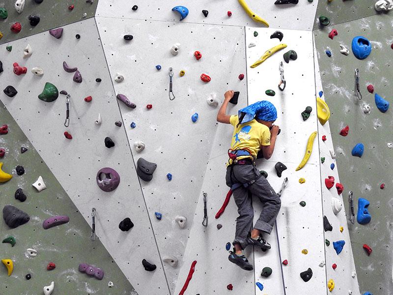 Klettern in der Kletterhalle