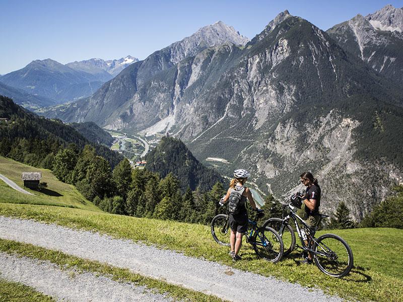 Mountainbiken nach Falterschein – Landeck